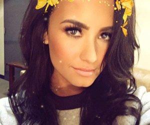 demi lovato, snapchat, and hair image
