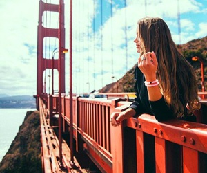 bridge, girl, and summer image