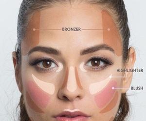 makeup, bronzer, and blush image