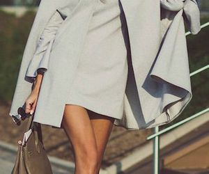 chic, creamy, and coat image