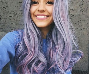 girl, hair, and smile image