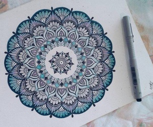 mandala and zentangle art image