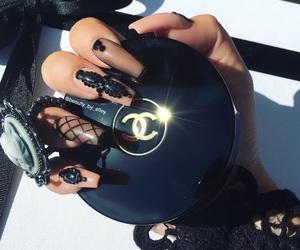 nails, makeup, and fashion image