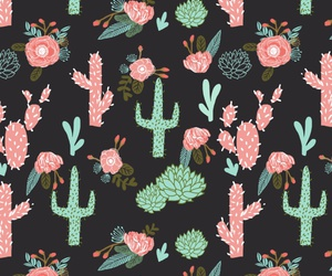 cactus, pattern, and background image