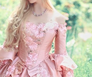 fancy, girl, and pink image