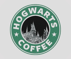 hogwarts, harry potter, and coffee image