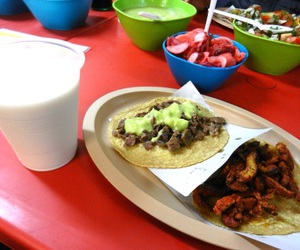 tacos, carne asada, and mexicanfood image