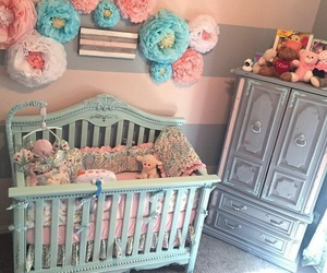 babies, flowers, and it's a girl image
