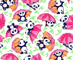 panda and pattern image