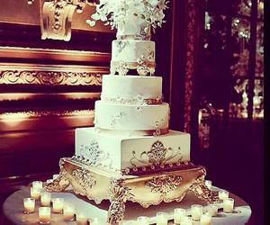 cake, couple, and food image