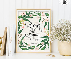 etsy, nursery decor, and strength and dignity image