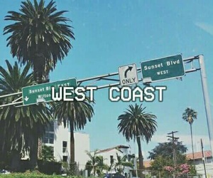 west coast, lana del rey, and california image