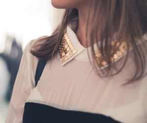 fashion, collar, and blouse image