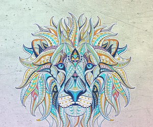 lion, wallpaper, and art image