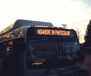 bus, nowhere, and travel image