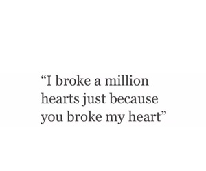 because, broke, and heart image