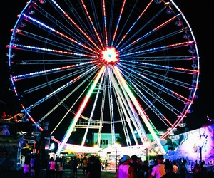big wheel, colourful, and ferris wheel image