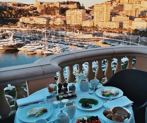 luxury, breakfast, and view image