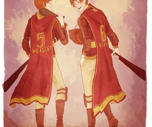 harry potter, quidditch, and weasley image