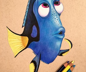 art, drawing, and dory image