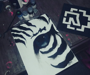 colors, eye, and painting image
