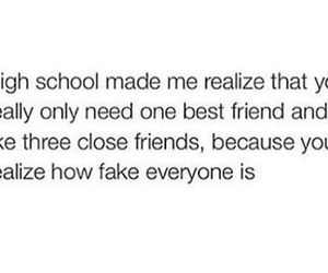 best friend, high school, and quotes image