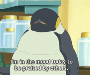 penguin, praise, and quotes image