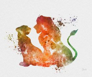 art, the lion king, and painting image