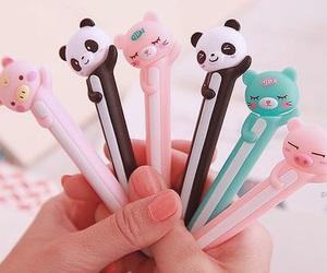 cute, panda, and pen image