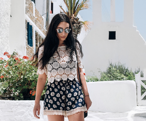 adventure, fashion, and floral image