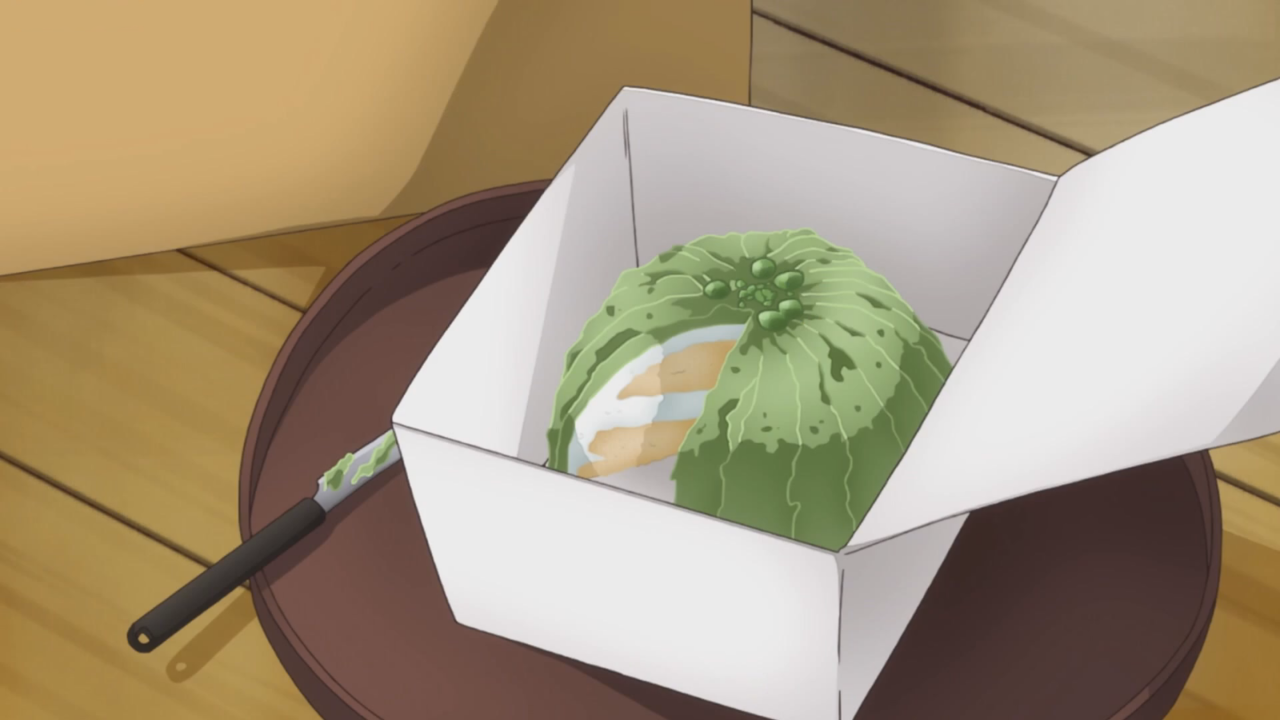 anime, cake, and cooking image