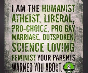 atheist, feminist, and liberal image