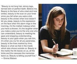 emma watson, beauty, and quotes image