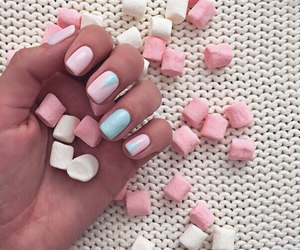 nails, pink, and marshmallow image