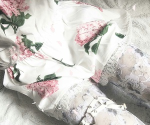 garter, lace, and lace tights image