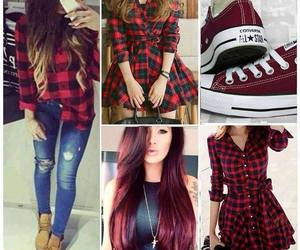 red, outfit, and shoes image