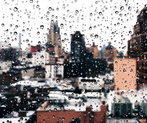 rain and city image