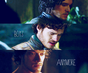 game of thrones, jon snow, and theon greyjoy image