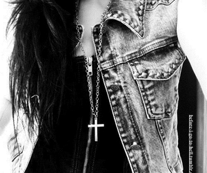 black and white, rock, and cross image