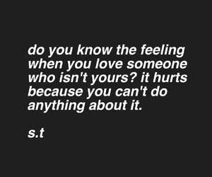 sad, s.t, and love image