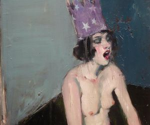 art, woman, and malcolm liepke image
