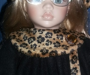 animal print, doll, and porcelain doll image