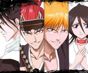 bleach, Ichigo, and byakuya image