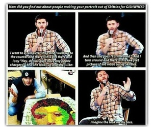supernatural, dean winchester, and skittles image