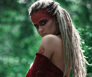 dreadlocks, face, and girls image
