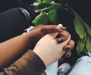 colour, interracial, and love image