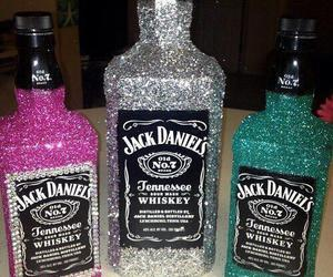 jack daniels, glitter, and drink image