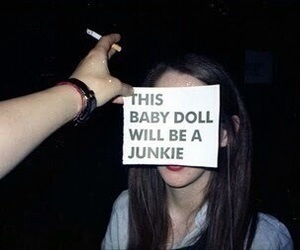 junkie, girl, and grunge image