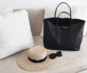 bag, black, and hat image