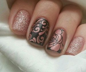 nails, rose, and beautiful image
